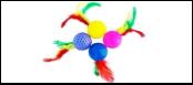 Мяч 4см с перьями ИУ85 Kormberi.ru магазин товаров для ваших животных