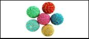 Мяч 5см -погремушка нейлон с люрексом ИУ87 Kormberi.ru магазин товаров для ваших животных