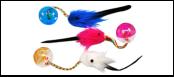 Мяч 4см -погремушка с цв. мышкой ИУ4 (уп15) Kormberi.ru магазин товаров для ваших животных