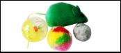 Набор 3 мячика 1 мышь ИУ51 Kormberi.ru магазин товаров для ваших животных