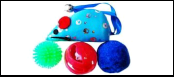 Набор 3 мячика 1 мышь с колоколь. ИУ50 Kormberi.ru магазин товаров для ваших животных