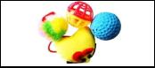 Набор 3 мячика 1 игрушка-сердце ИУ52 Kormberi.ru магазин товаров для ваших животных