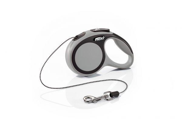 Флекси 3 м 8 кг New Comfort cord XS серая (grey) рулетка-Трос Kormberi.ru магазин товаров для ваших животных