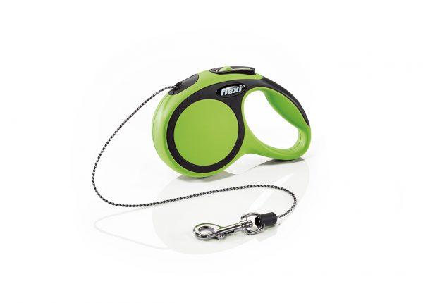 Флекси 3 м 8 кг New Comfort cord XS зеленая (green) рулетка-Трос Kormberi.ru магазин товаров для ваших животных