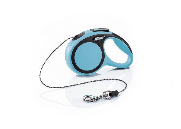 Флекси 3 м 8 кг New Comfort cord XS синяя (blue) рулетка-Трос Kormberi.ru магазин товаров для ваших животных