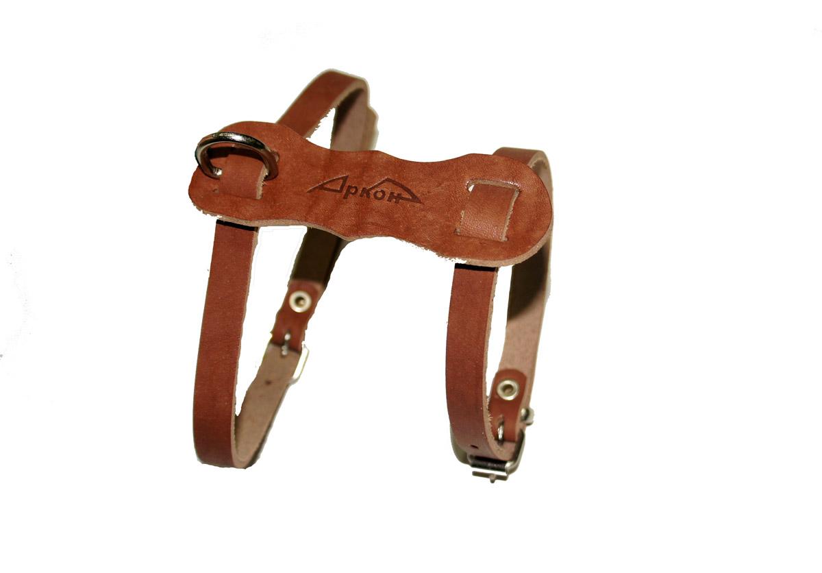 """шлейка """"люкс"""" коньячный шлк (36 - 45 см x 11 мм) Kormberi.ru магазин товаров для ваших животных"""