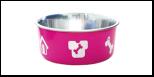 Уют Миска метал. цветная утяжелен. метал/пластик 0,26л (1*48шт) АМц100 Kormberi.ru магазин товаров для ваших животных