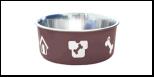 Уют Миска метал. цветная утяжелен. метал/пластик 0,50л (1*48шт) АМц110 Kormberi.ru магазин товаров для ваших животных