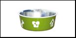 Уют Миска метал. цветная утяжелен. метал/пластик 0,98л (1*48шт) АМц120 Kormberi.ru магазин товаров для ваших животных