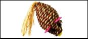 ЭКО мышь из кукуруз. стебля 7*4см ИУ100 Kormberi.ru магазин товаров для ваших животных