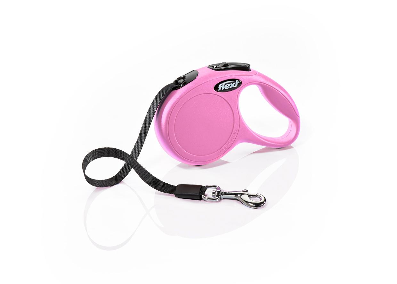 Flexi Флекси 3 м 12 кг New Classic tape ХS розовая (pink), рулетка-Ремень Kormberi.ru магазин товаров для ваших животных