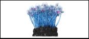 Уют коралл аквариумный 10 см,силикон Актиния Карибская колония голубая ВК702 (Р) Kormberi.ru магазин товаров для ваших животных