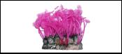 Уют коралл аквариумный 10 см,силикон Актиния Карибская колония лиловая ВК701 (Р) Kormberi.ru магазин товаров для ваших животных