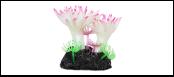 Уют коралл аквариумный 8 см,силикон Актни малые белые с розовым ВК727 (Р) Kormberi.ru магазин товаров для ваших животных