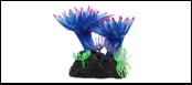 Уют коралл аквариумный 8 см,силикон Актни малые голубые ВК726 (Р) Kormberi.ru магазин товаров для ваших животных