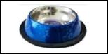 Уют Миска метал. цветная на резинке с рис 0,71л (1*12шт) АМРц071 Kormberi.ru магазин товаров для ваших животных