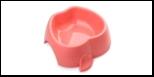 """Миска """"яблоко"""" 1000 мл коралловая 1*40шт МАК56 Kormberi.ru магазин товаров для ваших животных"""