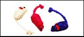 Мышь-погремушка сизаль цвет. 5см ИУ24 (уп50) Kormberi.ru магазин товаров для ваших животных