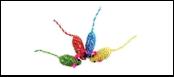 Мышь-погремушка цв. нейлон с люрексом 6,25см ИУ81 Kormberi.ru магазин товаров для ваших животных