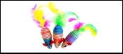 Мышь-погремушка цвет. нейлон с перьями 6,25см ИУ80 Kormberi.ru магазин товаров для ваших животных