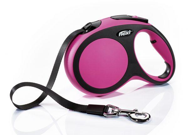 Флекси 5 м 60 кг New Comfort tape L розовый (pink) Ремень-рулетка Kormberi.ru магазин товаров для ваших животных