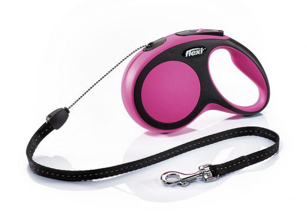 Флекси 8 м 12 кг Комфорт S розовая рулетка-Трос (Р) Kormberi.ru магазин товаров для ваших животных