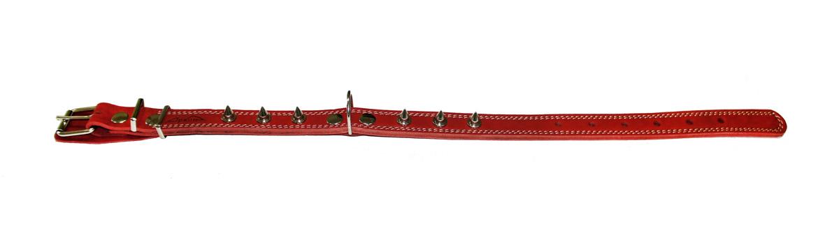 ошейник 25/2 шипы красный о25/2шкр (40 - 54 см х 25 мм) Kormberi.ru магазин товаров для ваших животных