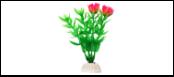 Уют Растение аквариумное 10 см, Гетерантера зеленая с розовыми цветами 0,02кг ВК101 Kormberi.ru магазин товаров для ваших животных