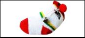 Носок мягкий с погремушкой 10-8см ИУ47 Kormberi.ru магазин товаров для ваших животных