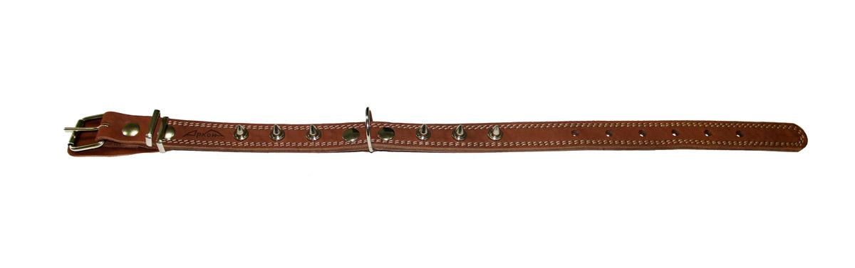 ошейник 25/2 шипы коньячный о25/2шк (40 - 54 см х 25 мм) Kormberi.ru магазин товаров для ваших животных