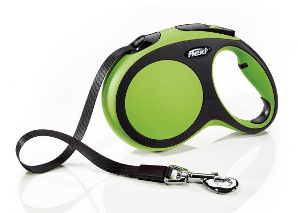 Флекси 5 м 60 кг New Comfort tape L зеленый (green), Рулетка-ремень Kormberi.ru магазин товаров для ваших животных
