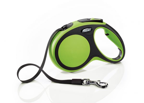 Флекси 5 м 25 кг New Comfort tape М зеленая (green) Рулетка-ремень Kormberi.ru магазин товаров для ваших животных
