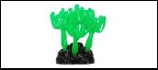 Уют коралл аквариумный 8 см,силикон Зонтики зеленые ВК723 (Р) Kormberi.ru магазин товаров для ваших животных