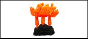 Уют коралл аквариумный 8 см,силикон Зонтики оранжевые ВК724 (Р) Kormberi.ru магазин товаров для ваших животных
