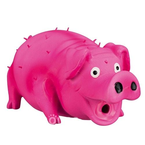 №1 №1 Игрушка д/собак Свинка хрюкающая розовая латекс 21см ЛС46 Kormberi.ru магазин товаров для ваших животных
