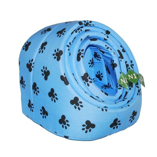 №1 №1 Лежанка-ракушка 8043/2 голуб. лапки 34*30*32см 0,22кг Kormberi.ru магазин товаров для ваших животных