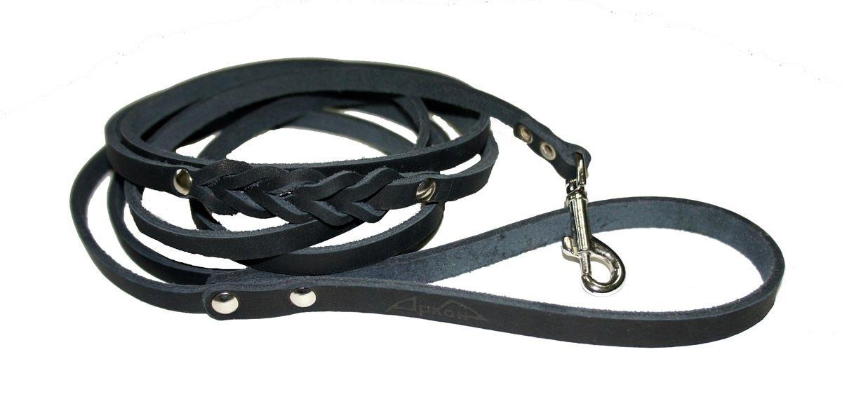 поводок  8дл черный п8дч Kormberi.ru магазин товаров для ваших животных