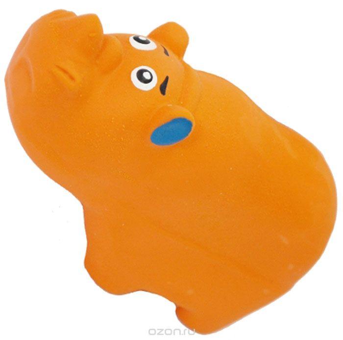 №1 №1 Игрушка д/собак Носорог с пищалкой латекс 9см ЛС19 Kormberi.ru магазин товаров для ваших животных