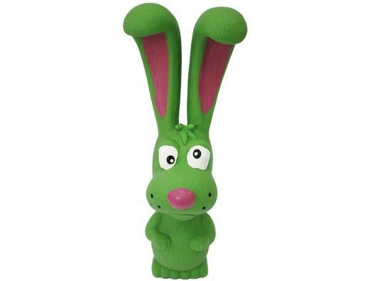№1 №1 Игрушка д/собак Заяц зелёный с пищалкой латекс 18см ЛС2 Kormberi.ru магазин товаров для ваших животных