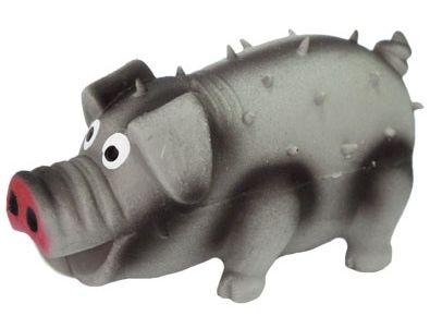 №1 №1 Игрушка д/собак Свинка серая с пищалкой латекс 10см ЛС59 Kormberi.ru магазин товаров для ваших животных
