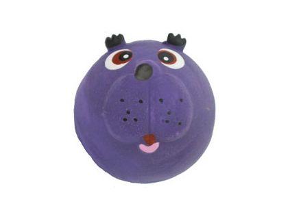 №1 №1 Игрушка д/собак Мяч-мордашка фиолетовый с пищалкой латекс 6см ЛС25 Kormberi.ru магазин товаров для ваших животных