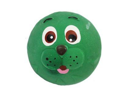 №1 №1 Игрушка д/собак Мяч-мордашка зелёный с пищалкой латекс 6см ЛС27 Kormberi.ru магазин товаров для ваших животных