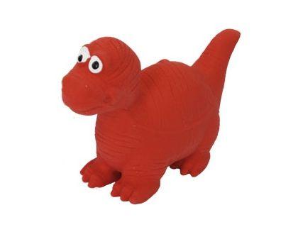 №1 №1 Игрушка д/собак Динозаврик красный с пищалкой латекс 8см ЛС14 Kormberi.ru магазин товаров для ваших животных