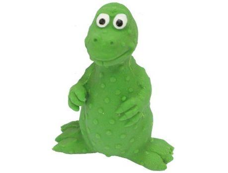 №1 №1 Игрушка д/собак Динозаврик зелёный с пищалкой латекс 8см ЛС11 Kormberi.ru магазин товаров для ваших животных