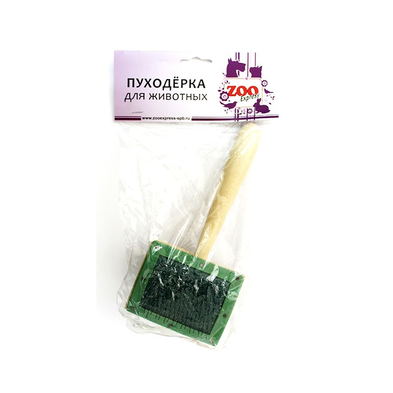 23031 пуходерка деревянная большая без капли Kormberi.ru магазин товаров для ваших животных