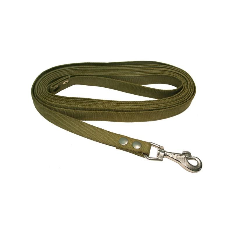 Поводок брезент 25мм дл 5м зелёный 0461З Kormberi.ru магазин товаров для ваших животных