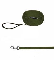 Поводок брезент 25мм дл 8м зелёный 0463З Kormberi.ru магазин товаров для ваших животных