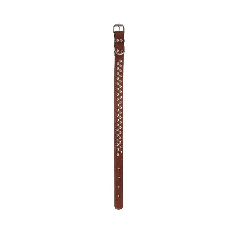 Ошейник 2сл 26мм клепка коричневый 0647К Kormberi.ru магазин товаров для ваших животных