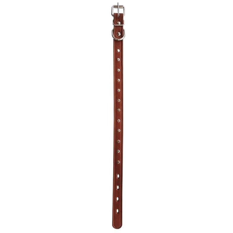 Ошейник 1сл 14мм фетр бусинка коричневый 0515К Kormberi.ru магазин товаров для ваших животных