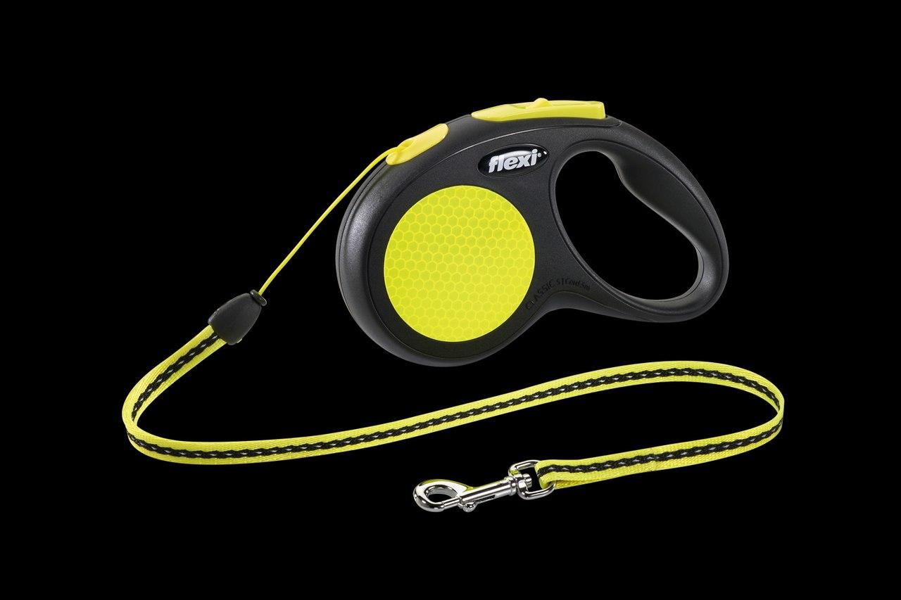 Флекси 5 м 12 кг Neon Reflect cord S рулетка-Трос Kormberi.ru магазин товаров для ваших животных